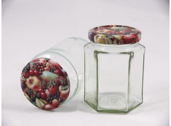 Deksel - 82mm - fruit TO  - 36 stuks (fruitdecor -tutti frutti)